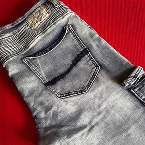 Blacx Mens Designer Jeans 36x32 (13711)
